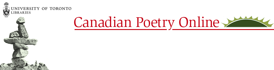 Canadian Poetry Online top banner